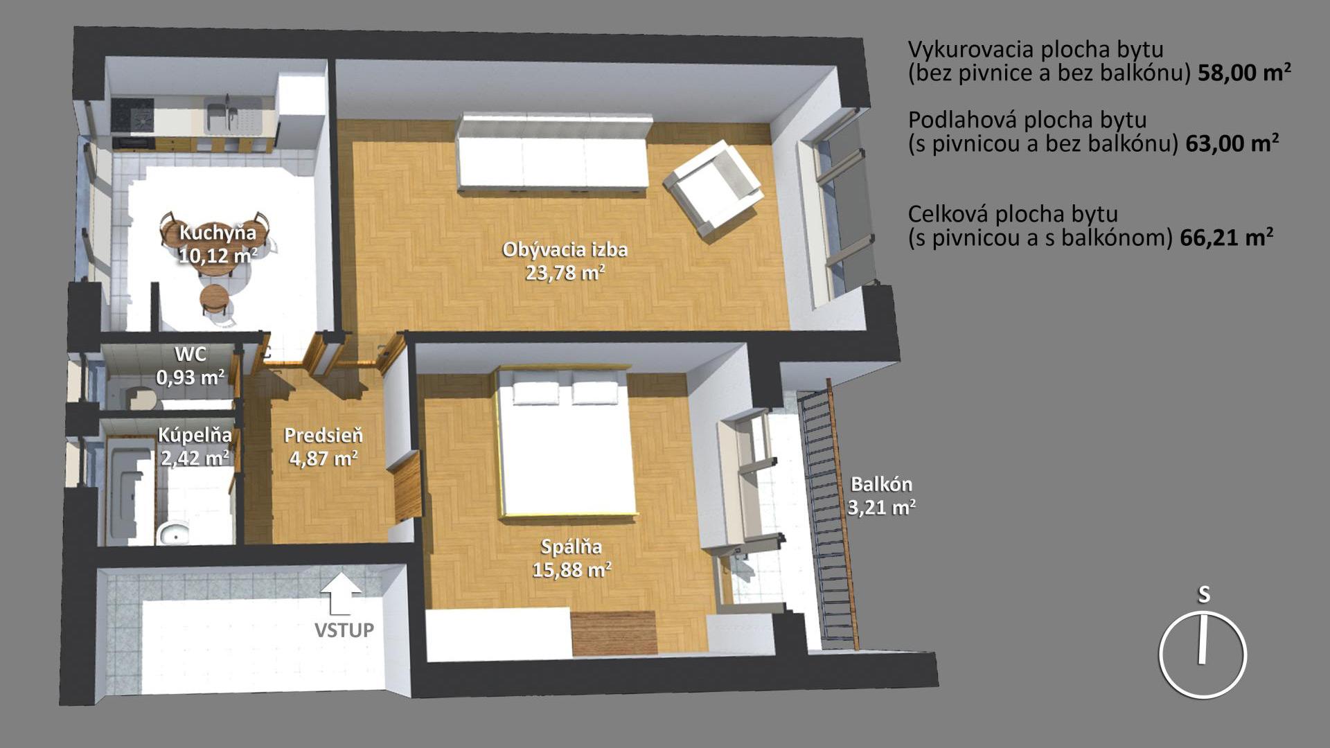 2-izb. byt Piešťany, Royova 7
